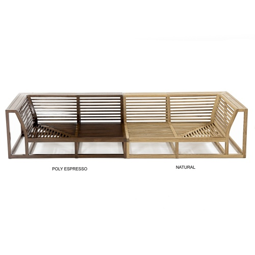 teakwood outdoor sectional couches