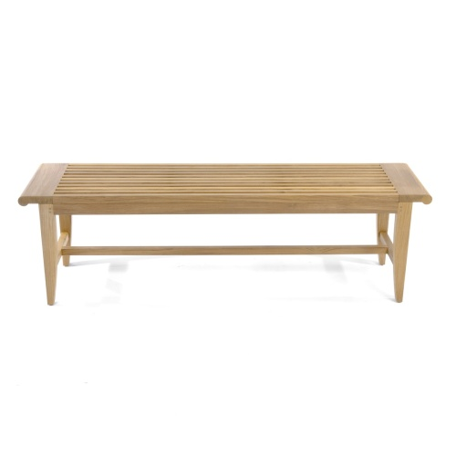 Grey Wooden Teak Backless Bench