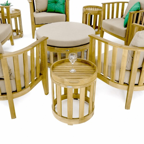 36 teak round coffee table