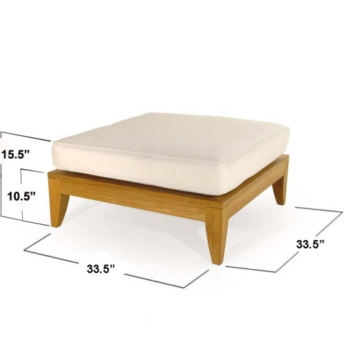 wooden ottoman sectional