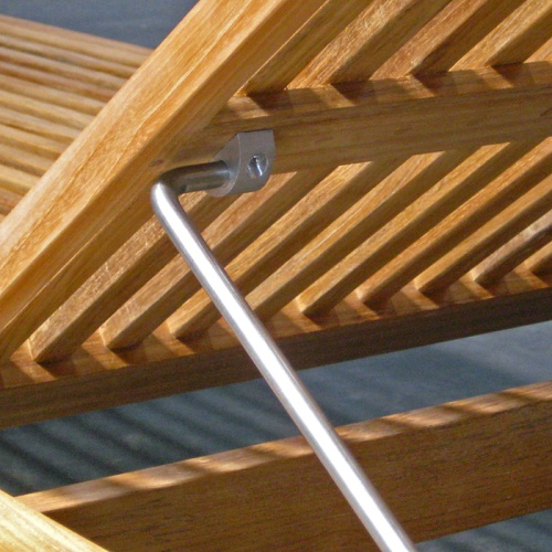 Teak Lounger with Adjustable Back
