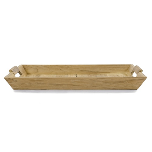 wooden teak serving tray