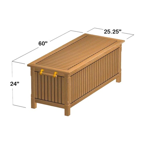 teak storage chest seating