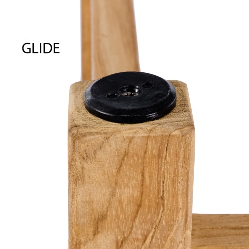 folding stool in solid teak wood