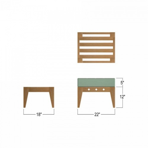 grade a teak wood footrest