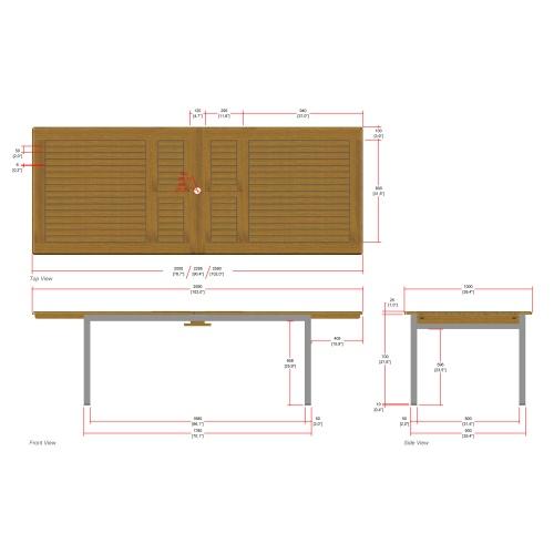 high grade marine sealed rectangular table extension
