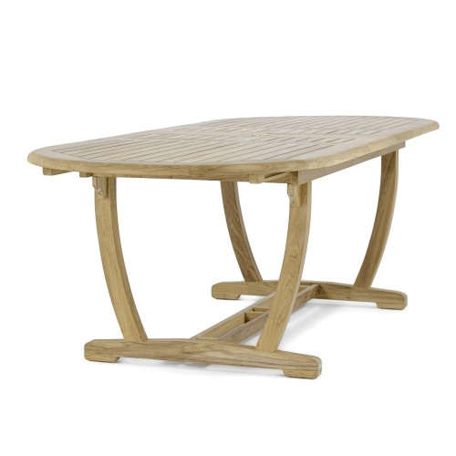 hardwood outdoor extension table