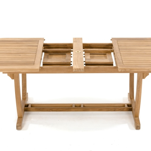 teak wood extension outdoor dining table
