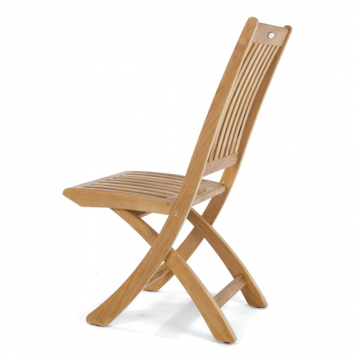 teak sidechair outdoor