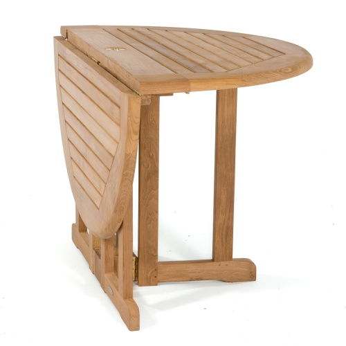teak folding outside table