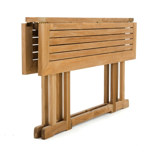 outdoor teak rectangular drop leaf table