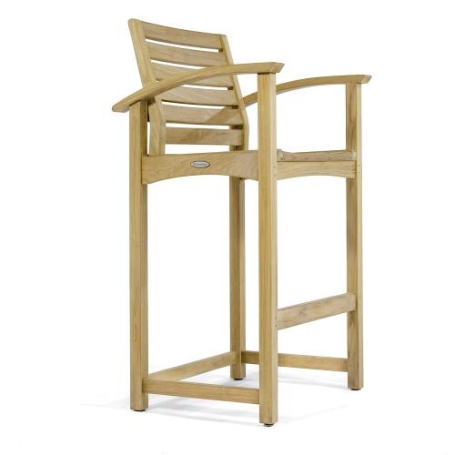 extra tall teak bar stools