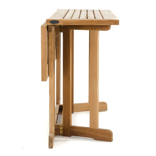 westminster teak drop leaf folding table