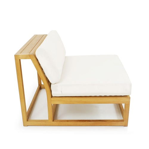 sectional wooden slipper chair