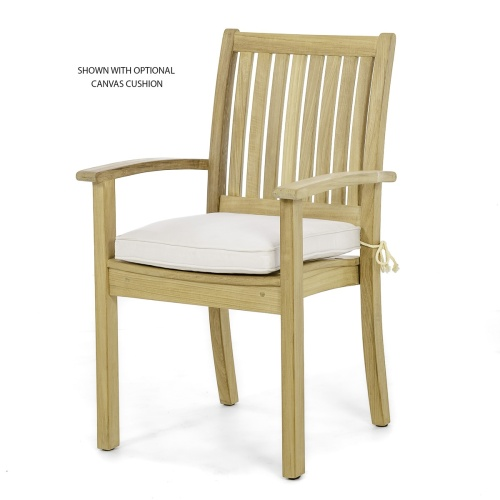 westminster stacking teak dining chairs