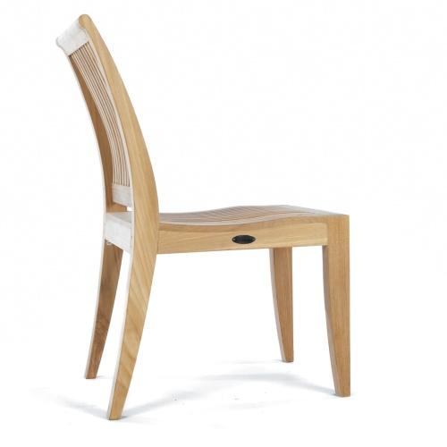 contoured teak sidechair