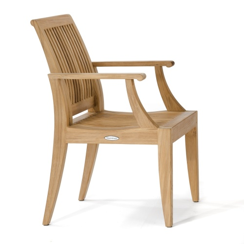laguna teak chair with armrest