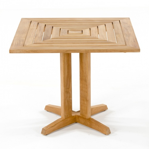 36 inch square teak table