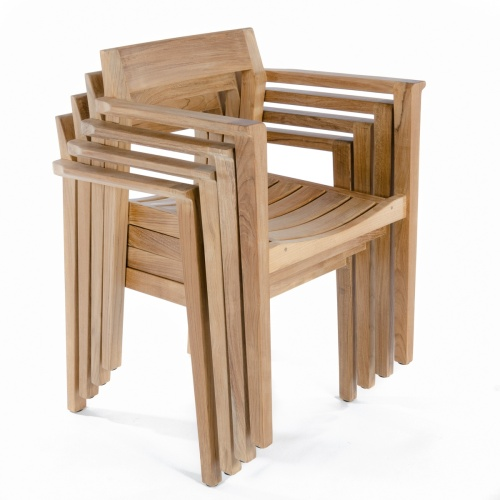 stacking teak garden chairs