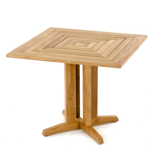 pyramid teak dining table