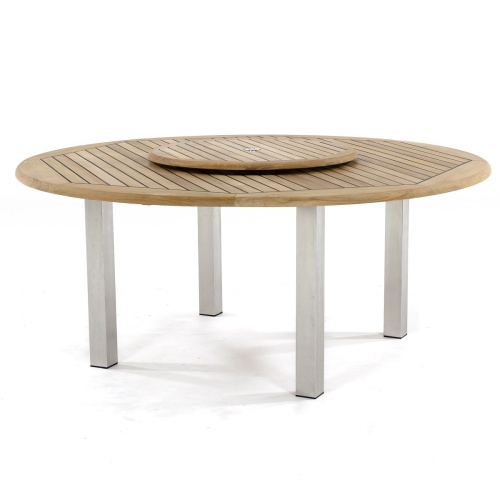round teak table outdoor