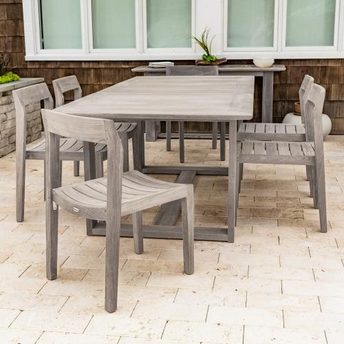 teak extension dining tables