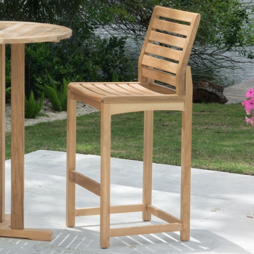 westminster wooden high bar stool