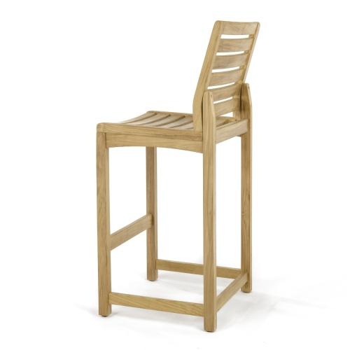 contemporary teak bar stools