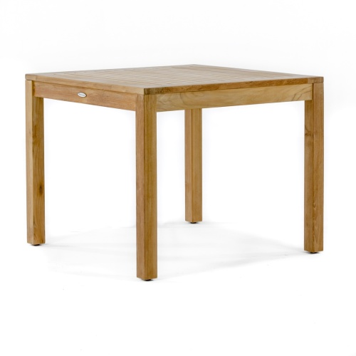teak wood bistro tables which are square