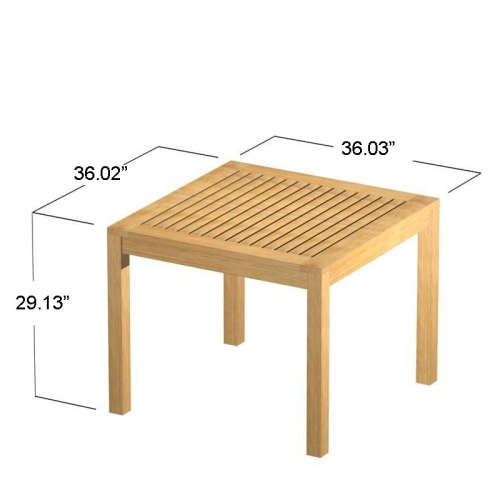 3ft square wood table