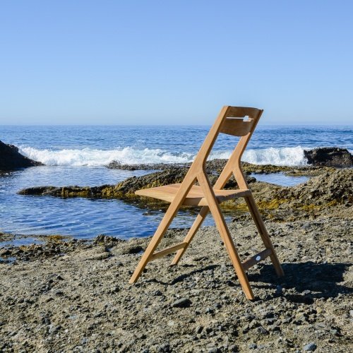 oceanside teak wood chair folding