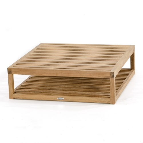teak wood block coffee table