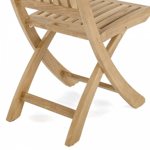 teakwood folding patio chair side