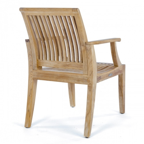 solid teak wooden outdoor armchair