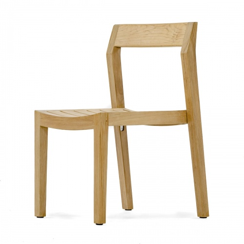 teak low back stacking chairs