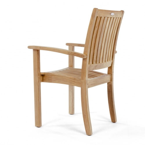 stackable outdoor chairs teak