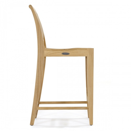 teakwood contoured bar stool