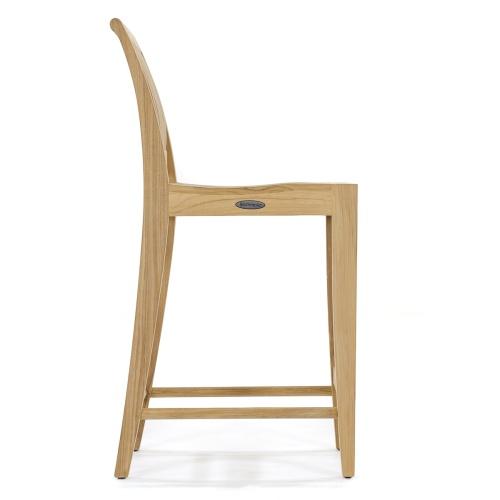 teakwood contoured bar stool