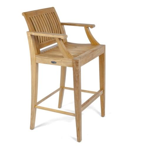bar stool teak with arms