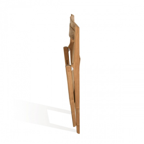 marine teak folding sidechair outsoor