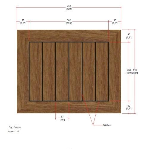 teak wood bistro top