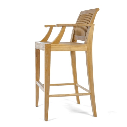 bar stool teak with arms