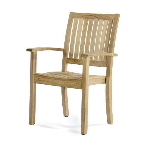 teak stacking patio chair
