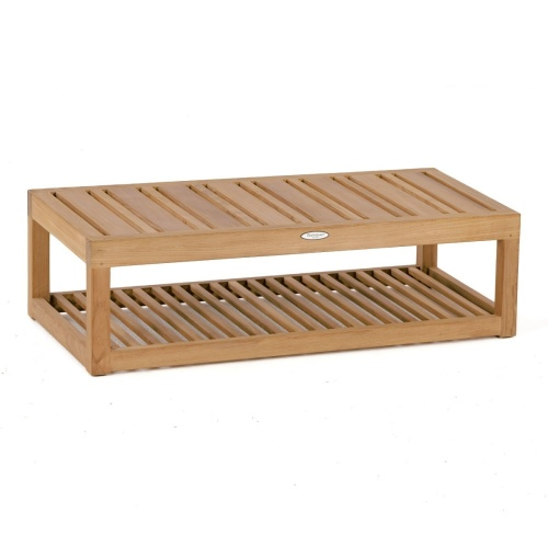 teak and wood side table