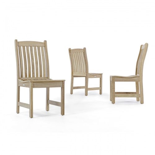 patio wooden dining side chairs teak