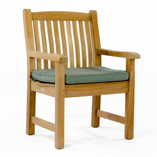 teakand stainless slatted side chair