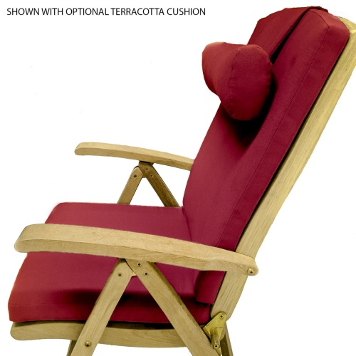 teak reclining lounge chair