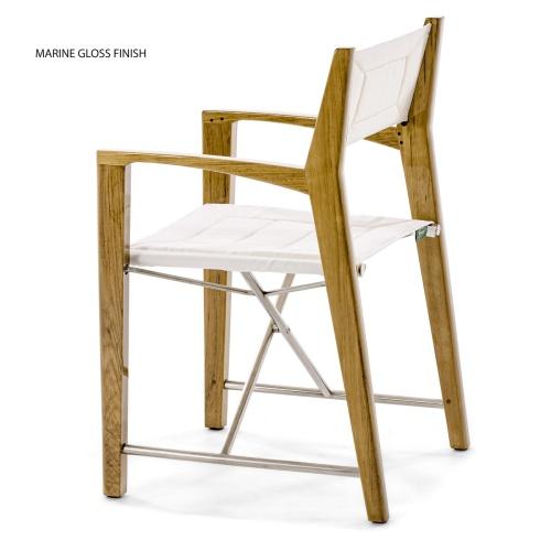 canvas on teak directors chairs
