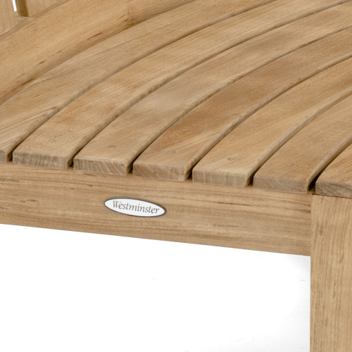 Curved Outdoor Bench Set
