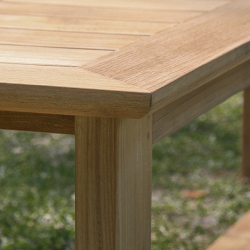 backless teak garden bench without arms